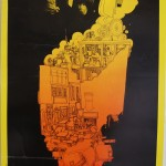 SANTANA Fillmore West San Francisco February 13th 1969 13x22 inches, USA 1969, artist Greg Irons
