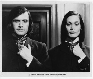 Martine Beswick with Ralph Bates in DR JEKYLL AND SISTER HYDE