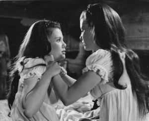 Mary Collinson and Madeleine Collinson in TWINS OF EVIL