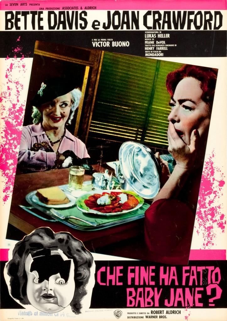 Bette Davis and Joan Crawford in WHATEVER HAPPENED TO BABY JANE, Italian fotobusta