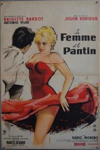 """LA FEMME ET LE PANTIN, French 16x24"""" poster 1959"""